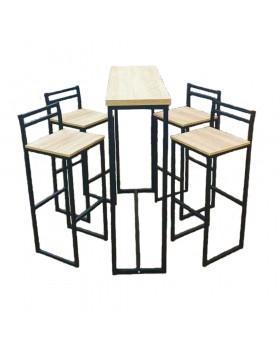 Барний комплект (барна стійка і 4 барних стільця Техно)