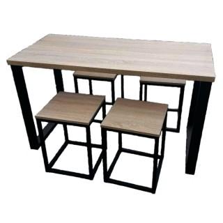 Комплект меблів обідній ЛОФТ(стіл та 4 табурети)