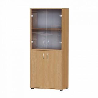 Офісна шафа для документів зі склом